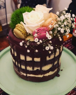 Chocolate coconut birthday cake
